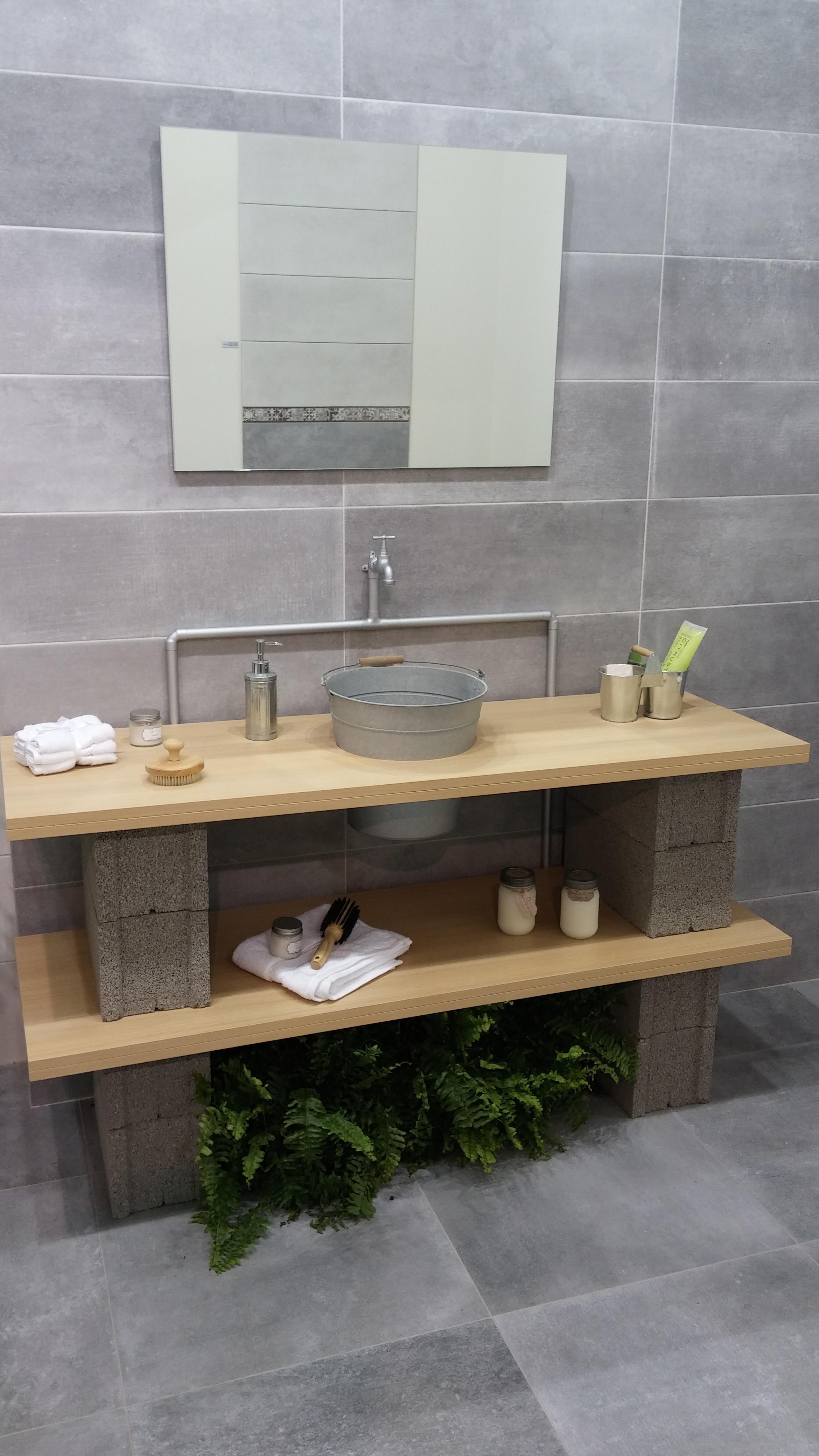Ideas Para Decorar Baños Con Poca Plata:Muebles Con Bloques De Hormigón Decorar Tu Casa Es Facilisimo Com